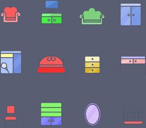 סוגים שונים של רהיטים